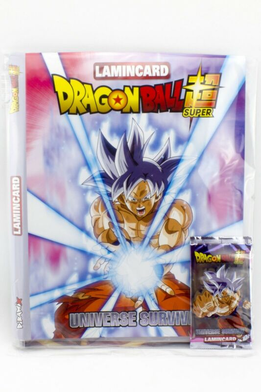 Album Raccoglitore Figurine Lamincard Dragon Ball Universe Survival + 24 Bustine 2