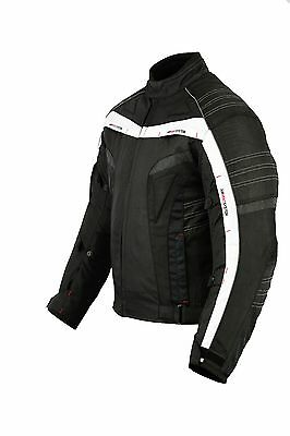 MCW Ghost Rider Red Neon Waterproof Motorcycle Motorbike Armour Jacket
