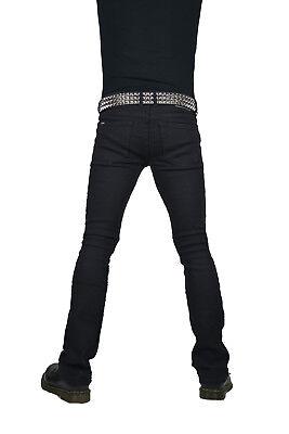 Kill City Schnürer Rocker Passform Riff Bootcut Gothic Punk Stage Jeans Hose