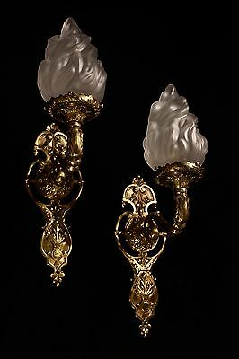 sconces wall lights fixtures bronze handcrafted individually by artist 7