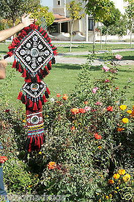 Antique Camel or Tent Decoration with Blue Eyes Textile from SE of Turkey 5