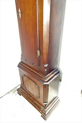 Grandfather Clock brass dial 8 day movement mahogany case. 7
