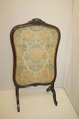 French louis XV Fireplace Screen with Original Fabric, From France, Circa 19th 5