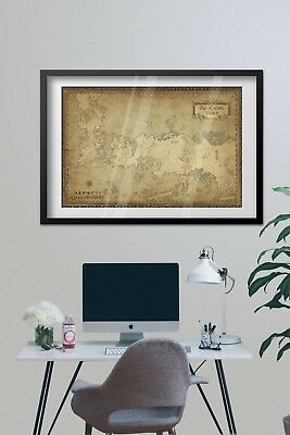 Game of Thrones Poster - Westeros Map - Exclusive Design 4