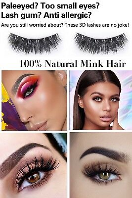 💙NEW 5 Pair 3D Mink False Eyelashes Wispy Cross Long Thick Soft Fake Eye Lashes 6