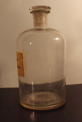 Apotheker Flasche Glas Labor Fichtennadel Franzbranntwein Glasstopfen #6286 3