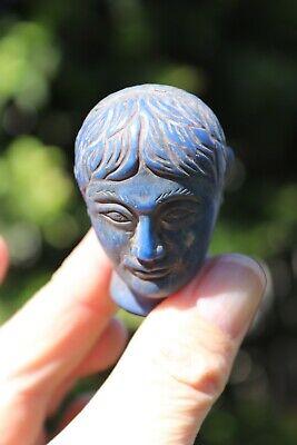 Head of the Roman Emperor, carved lapis lazuli stone, 100 BC-100 AD 11
