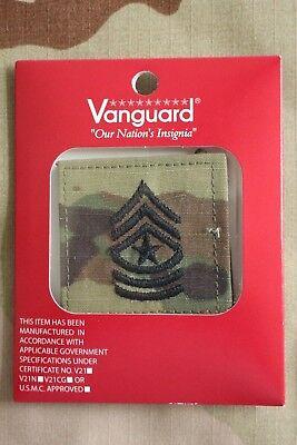 Us Army Gi Multicam Ocp E-9 Sgm Hook Back Camouflage Camo Uniform Rank Patch