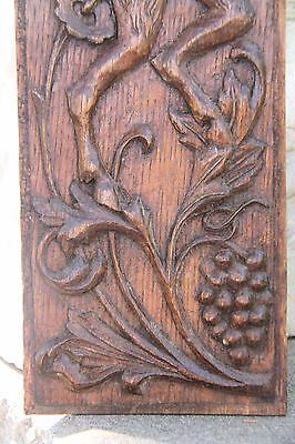 Vintage French Carved Oak Satyr/Bacchant Panels 4