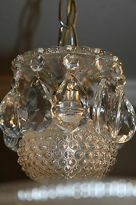 Antique large square frosted glass art deco custom light fixture chandelier 10