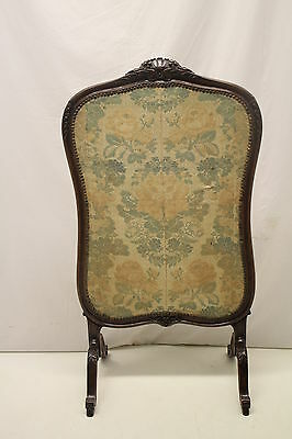 French louis XV Fireplace Screen with Original Fabric, From France, Circa 19th