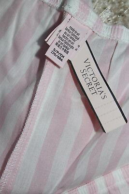 NWT Victoria's Secret Cotton Blend Pink/ White Striped Pajama Shorts sz S 4