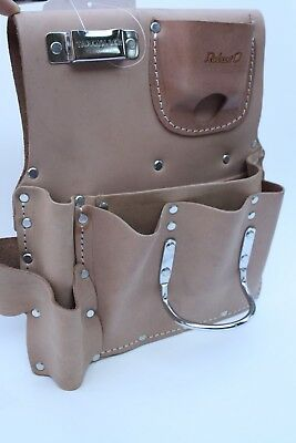 7 POCKET GENUINE TOP SADDLE LEATHER DRYWALL TOOL POUCH