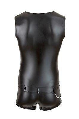 Herren Männer Kurz Overall schwarz Wetlook Shirt Pants bis XXL Body 3 • EUR 47,95