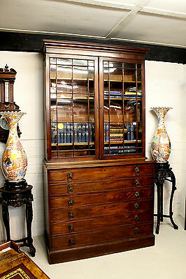 A Georgian Mahogany Secretaire Bookcase 3