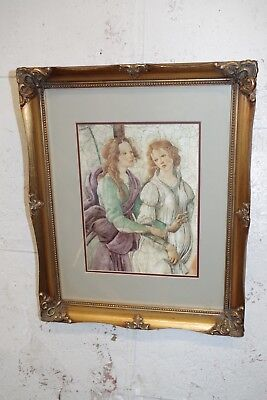Vintage Gold Gilt Ornate Wood Picture Frame & Print ( Photo Painting ) 4