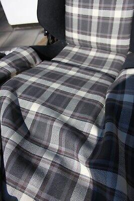 Black //White Capri 3.0S Fishnet Recaro Check Cloth material