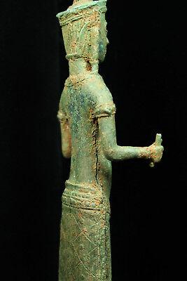 Rare Ancient Khmer Bronze Statue of Prajnaparamita 12th c Bayon Style Angkor Per 9