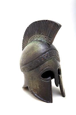 Ancient Greek Bronze Museum Replica Vintage Athenian Battle Helmet Collectable 2