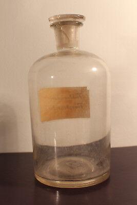 Apotheker Flasche Glas Labor Fichtennadel Franzbranntwein Glasstopfen #6286 2