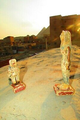 Antique Pharaonic Statues Made Of Wood, Horse And Nefertiti, Rare Made In Egypt 7