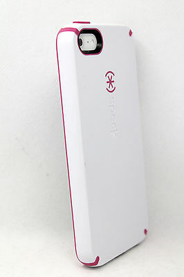 more photos fe866 8d36d SPECK CANDYSHELL HARD Snap Case For iPhone 5 iPhone SE iPhone 5S - White /  Pink