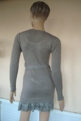 713086313177 ... Robe Tunique Pull Noire Neuve 65 % Laine 10 % Cachemire Tres Douce Tm 36