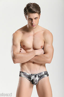 Slip Cuir Vinyle Armee Camouflage Sexy Homme Erotique Underwear Man Leather Uomo 3
