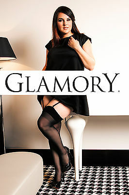 Glamory Perfect 20 den Straps-Strümpfe Strapse bis große Größe 62 4XL 50131