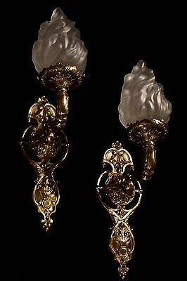 sconces wall lights fixtures bronze handcrafted individually by artist 4