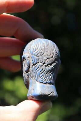 Head of the Roman Emperor, carved lapis lazuli stone, 100 BC-100 AD 5