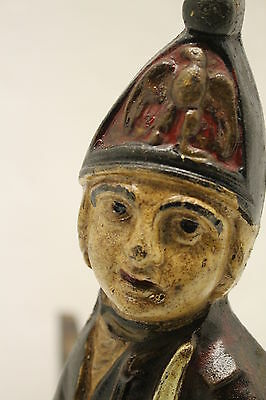 Cast Iron American Revolution Hessian Soldiers Andirons 11
