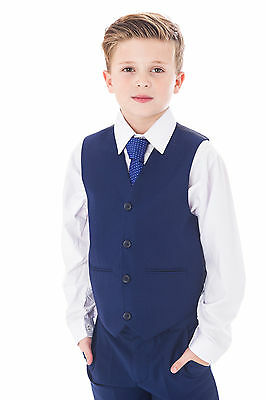 Boys Blue Suits Royal Blue Suit Navy Formal Wedding PageBoy Party Prom 5pc Suit 4