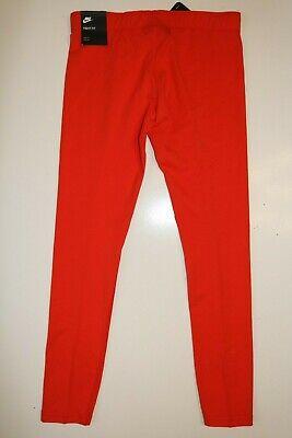 Nike Air Sport Metallic Cotton Leggings Girls - Red Aq9176-634 - M / 10-12 Years 2