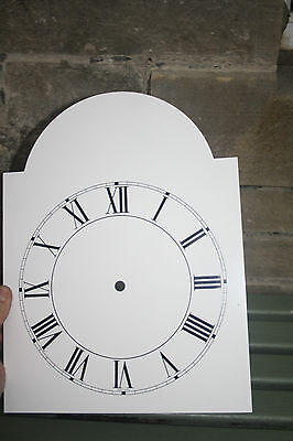 VINTAGE ENAMEL STYLE CLOCK FACE   REPLACEMENT PAINTED ON ALUMINIUM VGC m 10