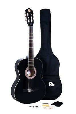 Rio Beginner Adult Student Full Size Acoustic Guitar Pack Starter Package Outfit 6