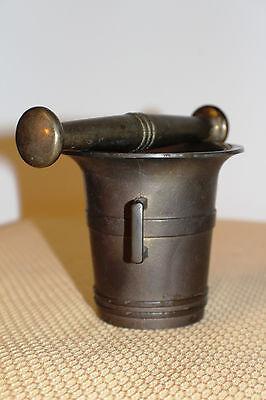 Mörser Schlegel Stössel antik Pistill Küche Pulver Deko Tabletten *6254 7