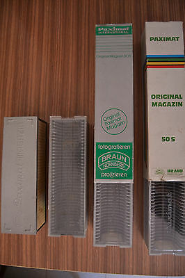 Antiguo Proyector de diapositivas Paximat + ventilador + 4 carretes 7
