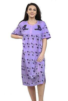 Ladies Night Gown Nightshirt Floral Short Sleeve Plus Size PJ Nightie Nightwear. 2