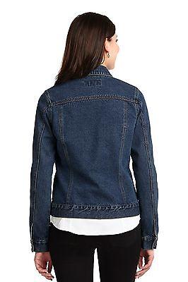 Denim Jean Jacket Coat Cute Ladies Women Girl Blue Fall Winter Warm Dress