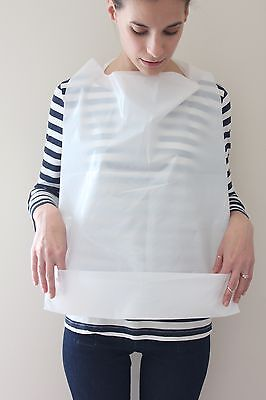 25 Pack Of Disposable Adult Bibs With Crumb Catcher Free Shipping