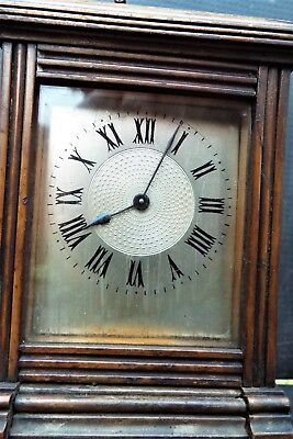 Small Red Walnut English Library Clock/Timepiece 2