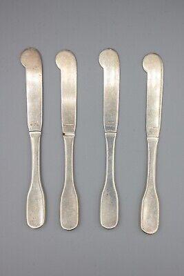 """Hans Hansen Susanne Sterling Silver Butter Spreader Knife – 6 1/8"""" – Set of 4 2"""