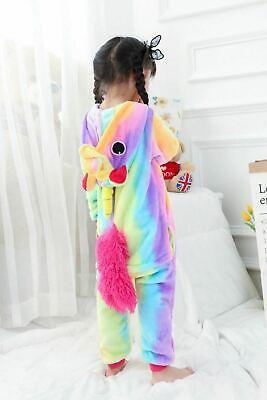 Adult/Child Unicorn Unisex Kigurumi Animal Cosplay Costume 1Onesie Pyjama UK 8