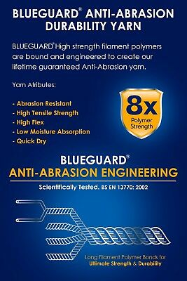 Blueguard - Mens Womens Black Heavy Duty Anti Abrasion Durable Work Boot Socks 3