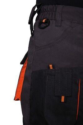 Arbeitshose Multifunktion Bundhose graphit/orange 270g/m2, Classic, Gr. 46-64