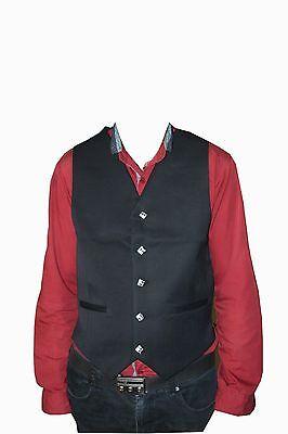 """Argyle vest ARGYLE 5 BUTTON FORMAL VEST KILT MEN size 38"""" to 50"""" 2"""