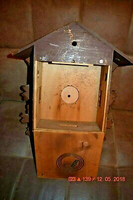Vintage 8 day Heco Cuckoo Clock Box only for parts 8