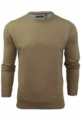 Mens Light Knitted Crew Neck Jumper Sweater Jersey Long Sleeve Brave Soul Parsec 2