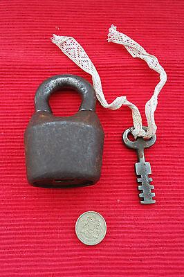 Vintage Padlock with one key, working order.